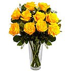 Quintessence Yellow Roses in a Vase to Amberpet