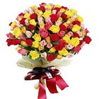 Multicolored Bouquet of Premium Mixed Roses