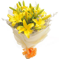 Petite Yellow Lilies Bouquet