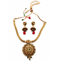 Designer Wedding Special Golden Necklace Set