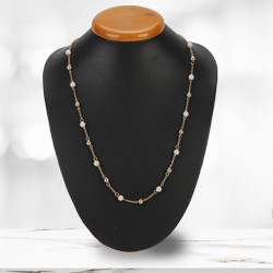 Enchanting Gold Plated Pearl Necklace from Avon