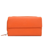 Scintillating Urban Forest Ladies Wallet in Orange Made of Genuine Leather