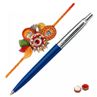 <b>Pen from Parker</b> with Free Designer Rakhi and Chocolate