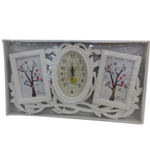 Home Decor Photo and Time Clock Frame
