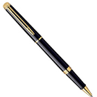 Waterman's Sublime Reverence Hemisphere Mars Black GT RB Pen