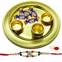 Fabulous Gift of 4 Choco Eclairs placed in a Adorable Silver Plated Thali