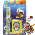 Fabulous Doraemon Rakhi Hamper of Digital Watch and Purse