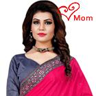 Lovely Sizzle Pink Mono Net Silk Saree