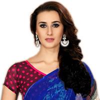Charismatic Printed Marbel Chiffon Fashion Saree for Ladies
