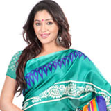 Enticing Printed Bhagalpuri Silk Saree
