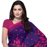 Flourishing Vibrancy Georgette Saree