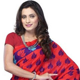 Cultivated Vivacity Mix Material Saree