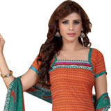 Attractive Chiffon and Crepe Fabric Salwar Suit from Siya