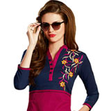 Lovely Collection of Maroon N Blue Colour Cotton Printed Suit