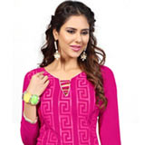 Enthralling Chanderi Dress Material