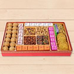 Garnishing Connection Milk Cake Sweets Box from Haldirams