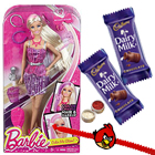 Spectacular Barbie Capelli Glam Doll with Kids Rakhi and Chocolate and Roli Tilak Chawal