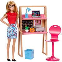 Fancy Barbie Doll Home N Office Set for Little Angel