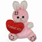 Jaunty 'Mr. Love' Bunny of Shade Pink<br>
