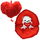 Splendid Teddy Bear in Heart with Essence of Romance