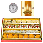 Assorted Sweets with Silver Plated Coin