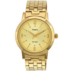 Trendy Gents Watch from Timex with Round Dial and Golden Colour