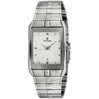 Gaudy Stainless Steel Long Rectangle Dialed Gents Watch from Titan