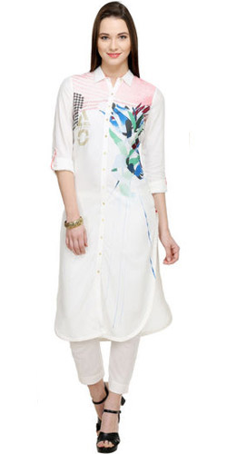 Exotic White Kurti by 'W'