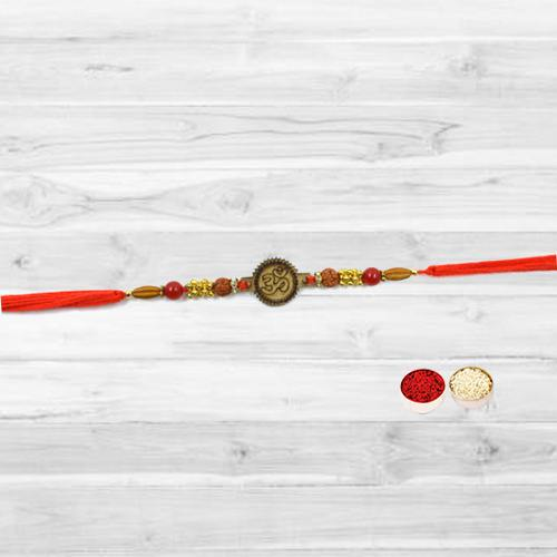 Fashionable Om Embellished Rakhi