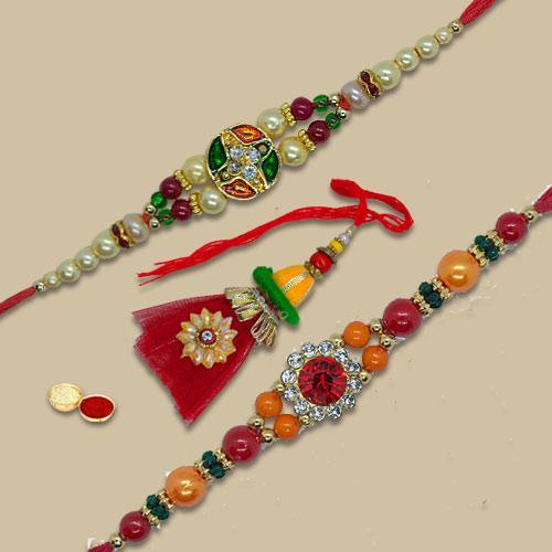 Amazing Rakhi Combo of Bhaiya N Bhabhi Rakhi