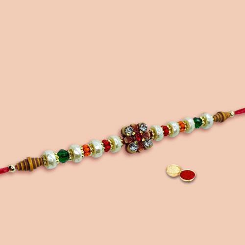 Dazzling Selection of One Rakhi with Roli Tika N Chawal