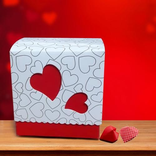 Mesmerising Box of Heart Shape Homemade Chocolate