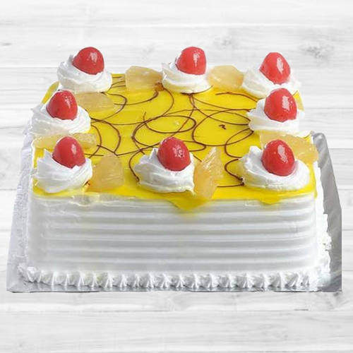 Online Deliver Eggless Pineapple Cake