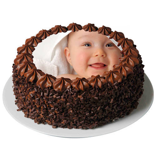 Gift Online Chocolate Photo Cake