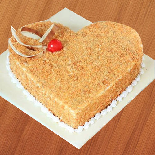 Gift Heart-Shape Butter Scotch Cake Online