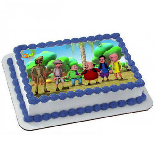Online Motu Patlu Photo Cake for Kids