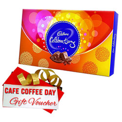 Yummy Cadbury Celebration Gift Pack with CCD Voucher