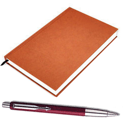 Special Gift Hamper containing a New Year Diary, a New Year Greetings Card and a Parker Pen