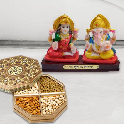 Ganesh Lakshmi with Dry Fruits