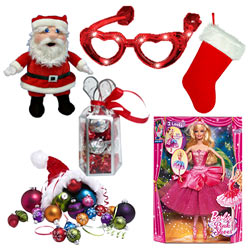 Mesmerizing Arrangement of Christmas Accessories