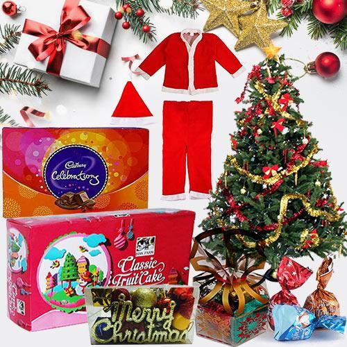 Graceful Arrangement of Christmas Gift Items