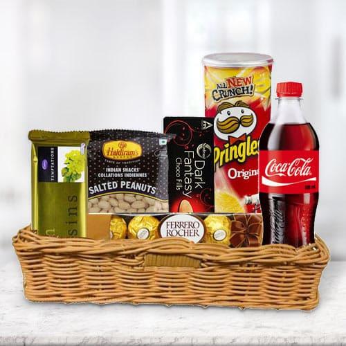 Online Gift Basket of Delightful Gourmets