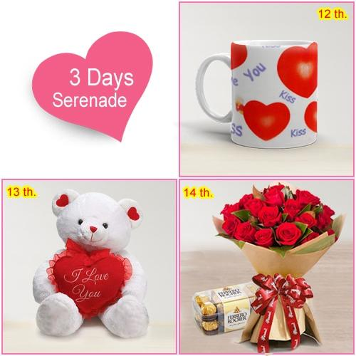 Order 3 Day Serenade Gift Hamper for Lady Love