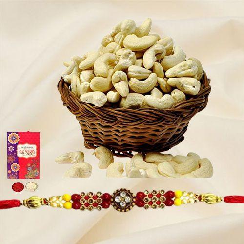 Cashews with Free Rakhi and Roli Tilak Chawal