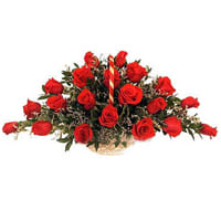 Gift Red Roses Basket Online