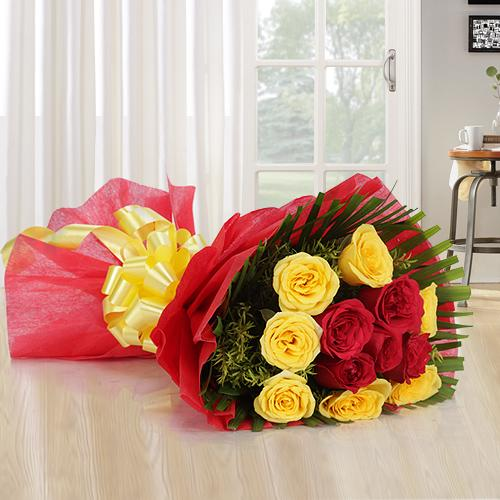 Shop Online Mixed Roses Bouquet<br>