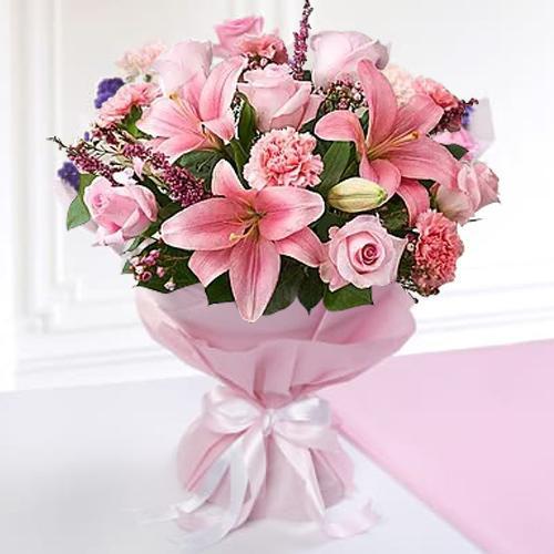 Online Order Mixed Flowers Bouquet