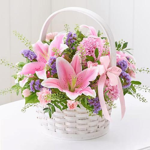 Buy Bouquet of Fresh Lilies Online
