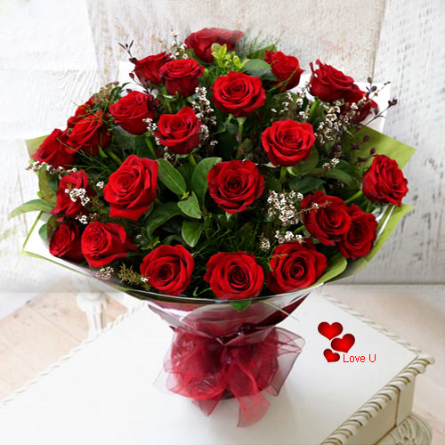 Gift a Bouquet of 24 Dutch Roses