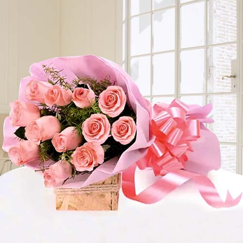 Gift Pink Roses Bouquet Online